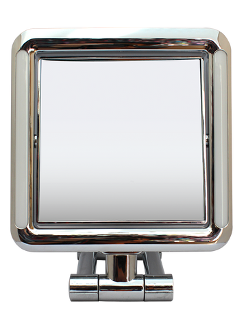 Lighted (LED) Chrome Square Standing Mirror 5