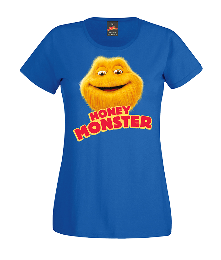 LADIES 'ORIGINAL HONEY MONSTER' BLUE CLASSIC T-SHIRT