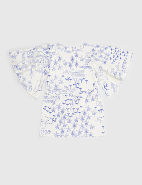 Croco Map Dress