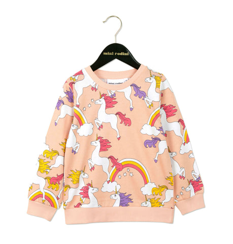 Unicorn Sweatshirt in Pink