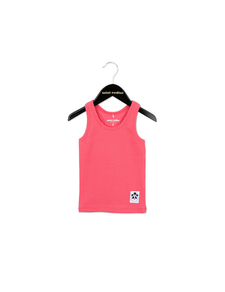 Solid Rib Tank in Pink