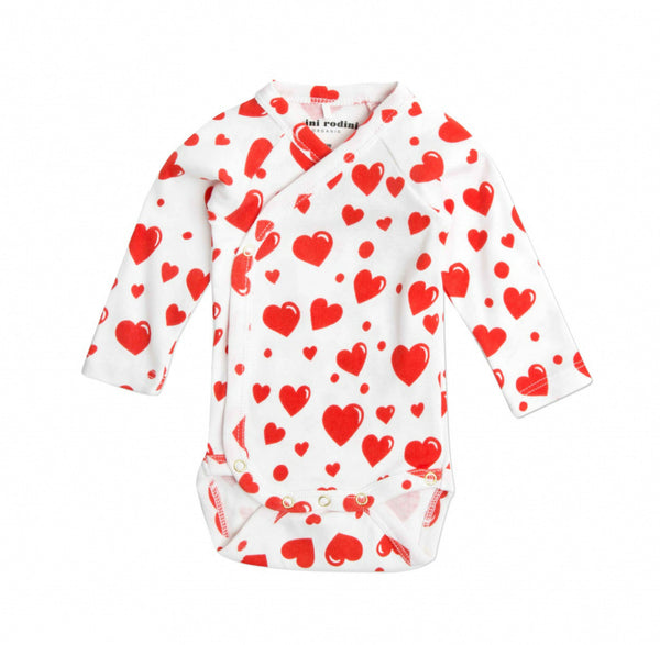 Hearts Newborn Wrap Longsleeve Body