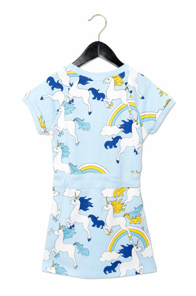 Unicorn Sweatdress in Blue