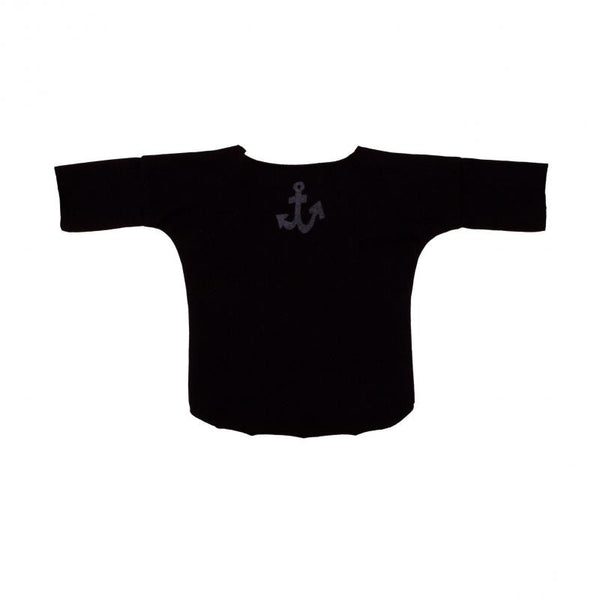 Anchor Print Black Baby Tee