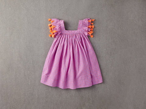 Chloe Dress in Orchid Bouquet Swissdot