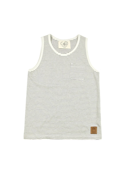 Grey Stripe Jersey Tank