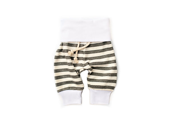 Grey Striped Baby Pants