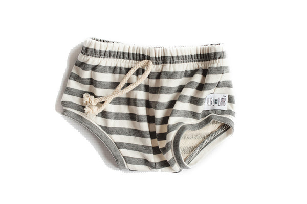 Grey Striped Shorties