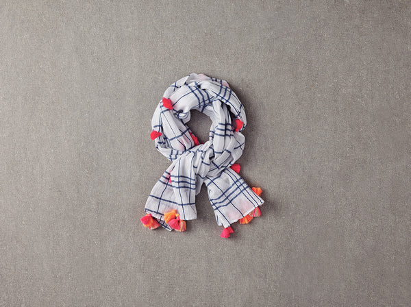 Katie Scarf in Blue Check