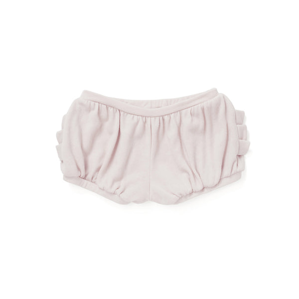 Bloomer Shorts with Pleated Pockets in Dusty Rose