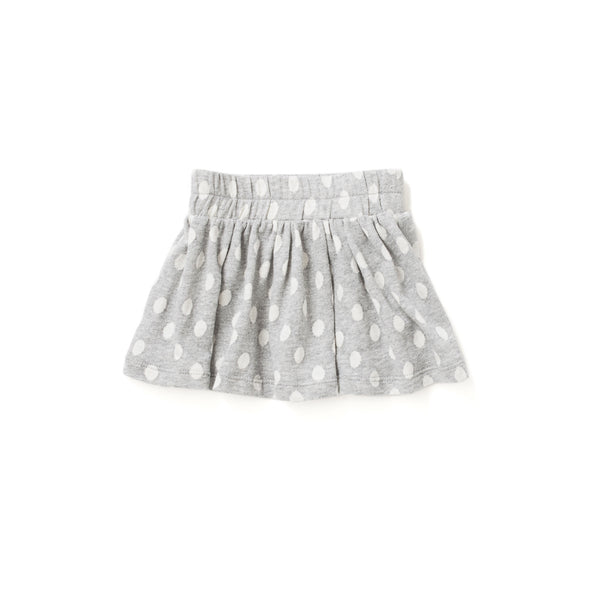 Circle Terry Skirt in Grey Dot