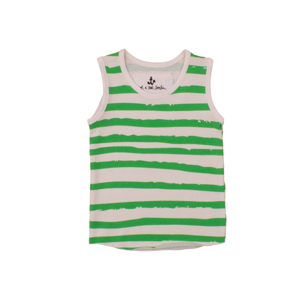 Green Stripe Baby Tank