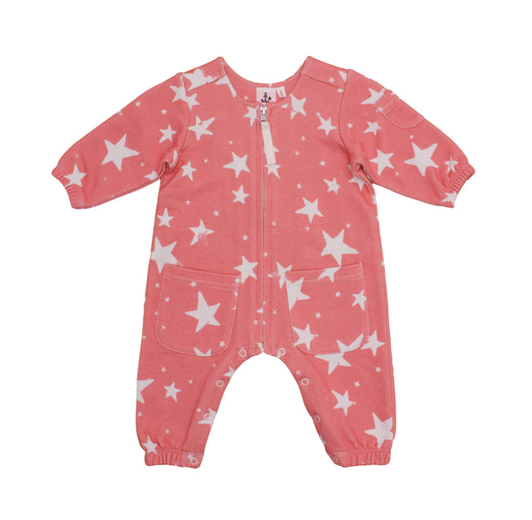 Coral Stars Boiler Suit
