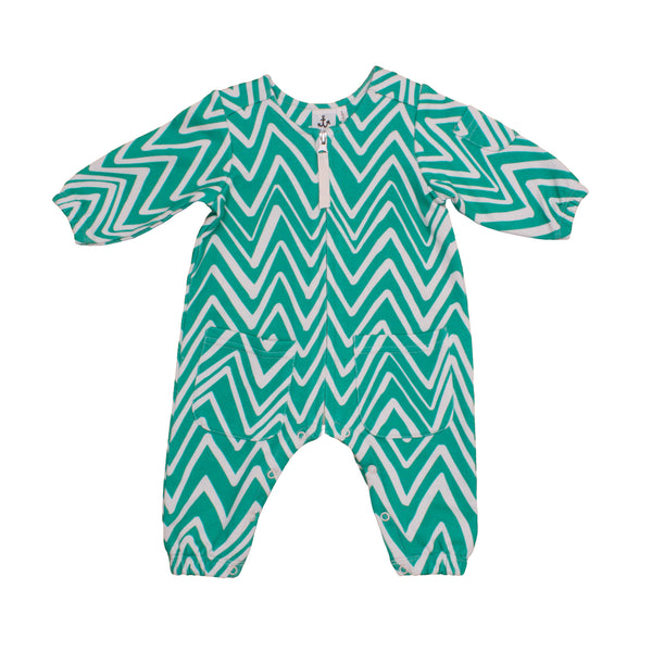 Mint Chevron Boiler Suit