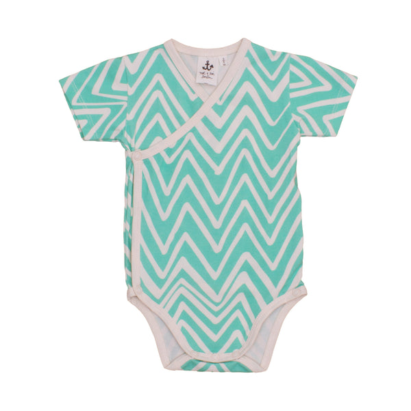 Mint Chevron Wrap Body
