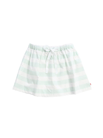 Stripes Skirt in White & Pastel Blue