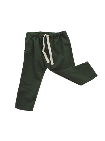 Solid Pant in Dark Green