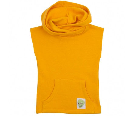 Sleeveless Hoodie in Yellow