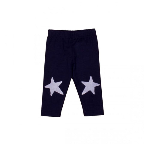 Navy with White Stars Leggings