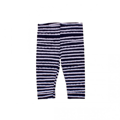 Navy with White Stripes Leggings