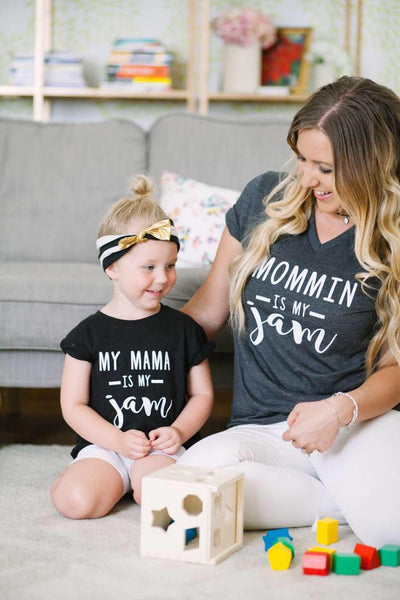 Matching mom and me Jam shirt sets