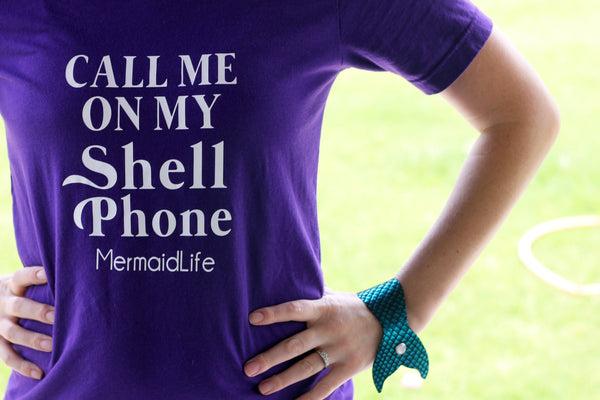 Call me on my shell phone womens shirt