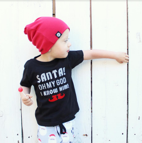 Santa Oh My God I Know Him Christmas Shirt