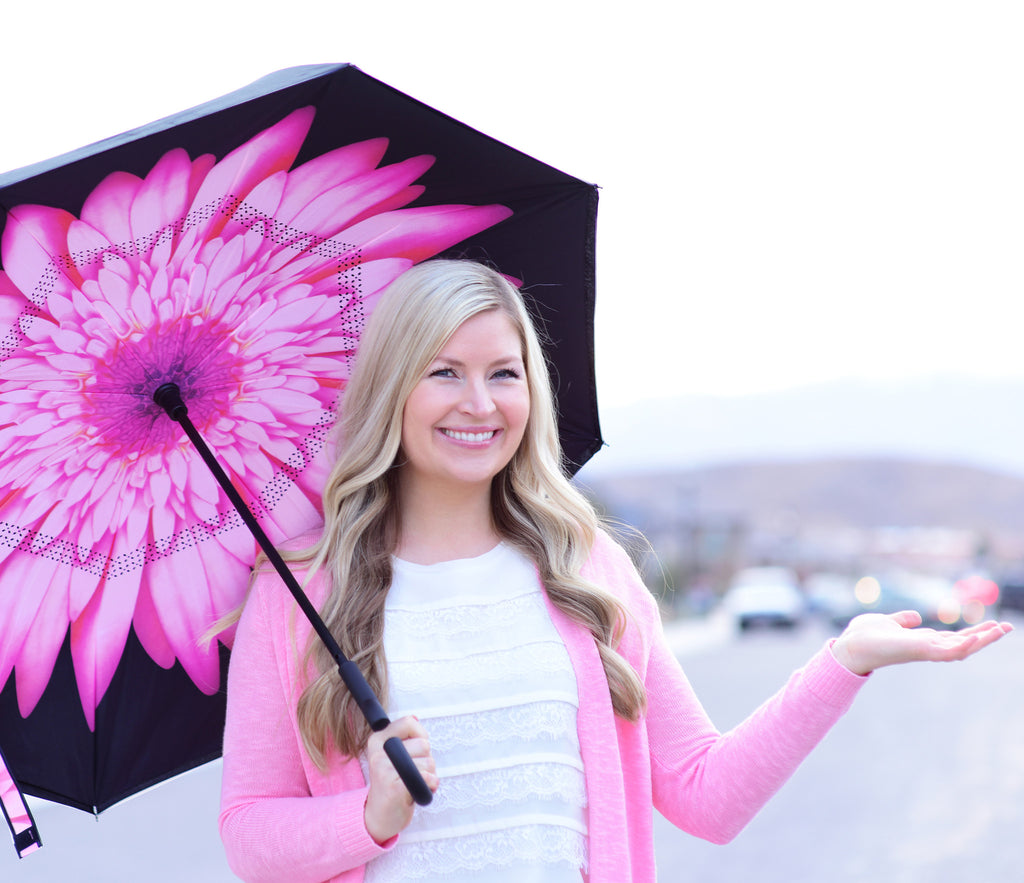 Inverted Reverse-Folding Umbrella