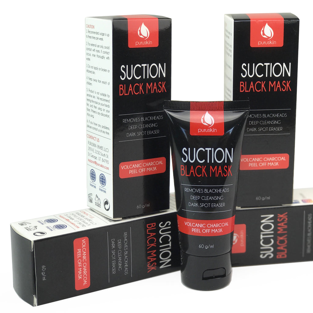 Suction Black Peel Off Mask — Volcanic Charcoal