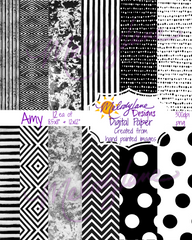 Amy Digital Paper Set