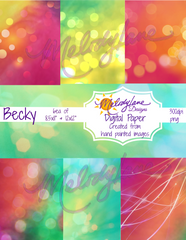 Becky Digital Paper Set