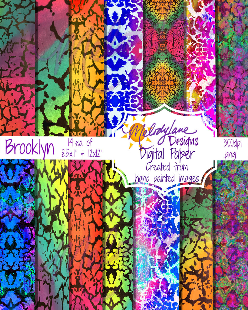 Brooklyn Digital Paper Set