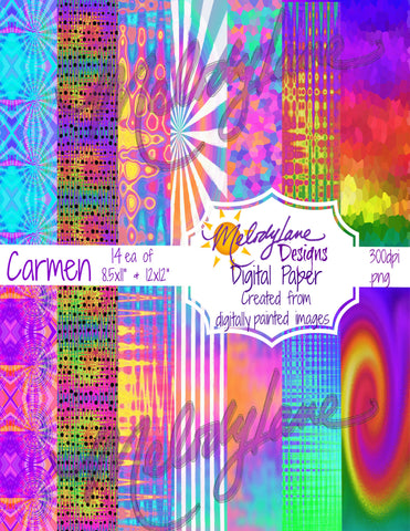 Carmen Digital Paper Set