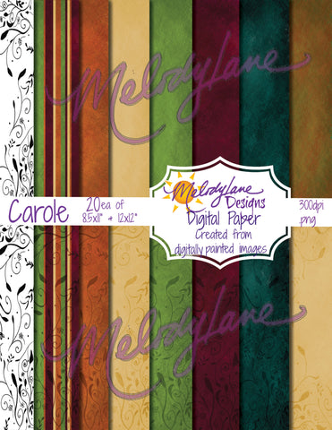 Carole Digital Paper Set