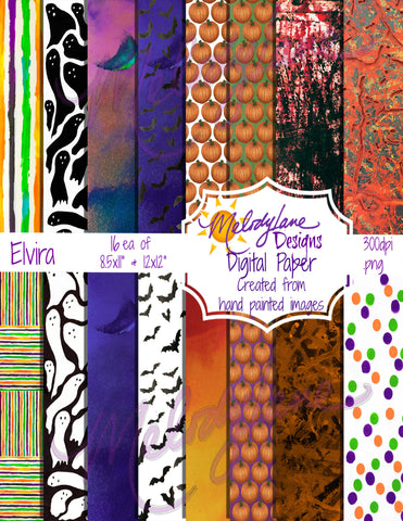 Elvira Digital Paper Set