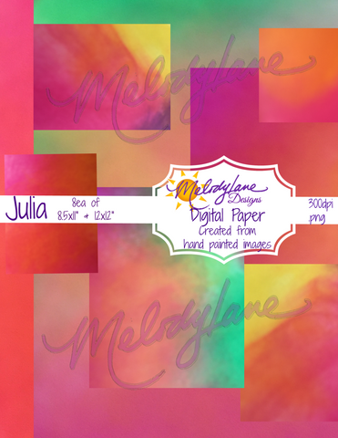 Julia Digital Paper Set