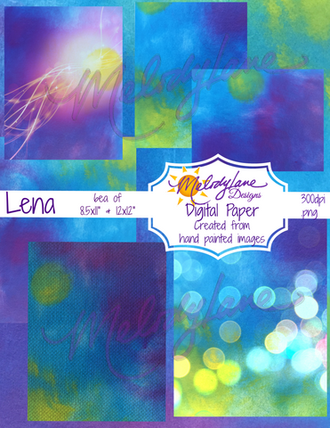 Lena Digital Paper Set