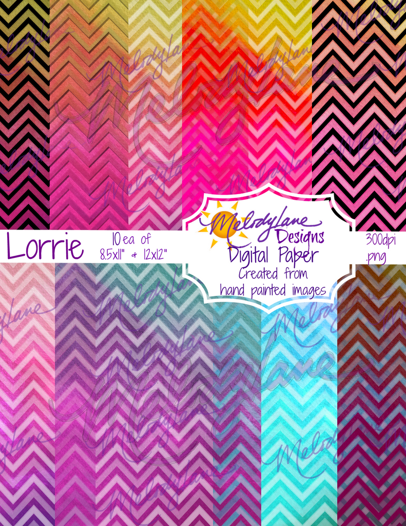 Lorrie Digital Paper Set