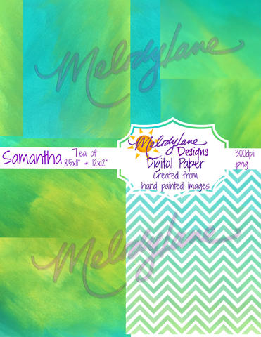 Samantha Digital Paper Set