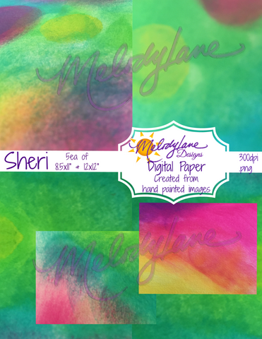 Sheri Digital Paper Set