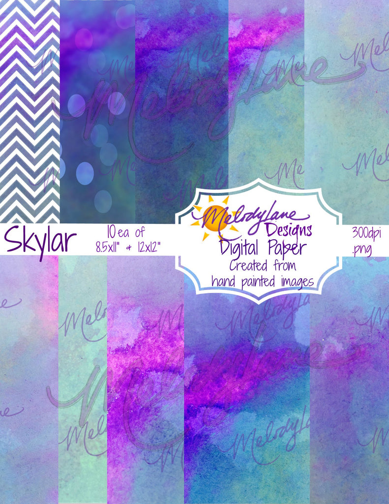 Skylar Digital Paper Set
