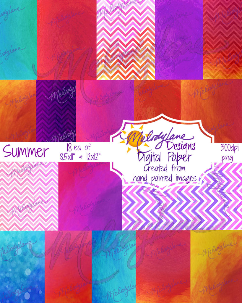 Summer Digital Paper Set