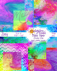 Zoey Digital Paper Set