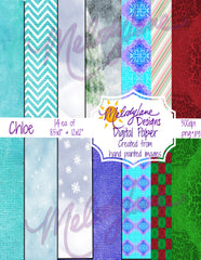 Chloe Digital Paper Set