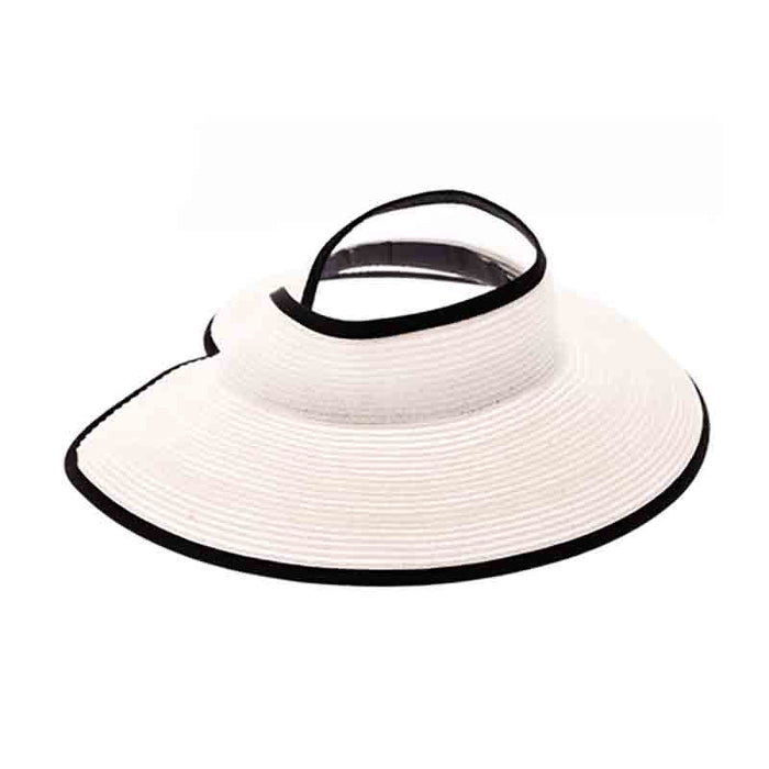 Wrap Around Sun Visor Hat with Contrast Trim by Boardwalk
