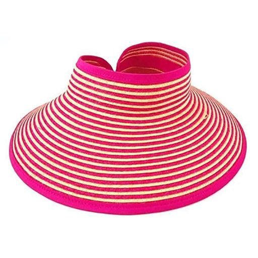 Two Tone Roll Up Wrap Around Sun Visor Hat by Boardwalk