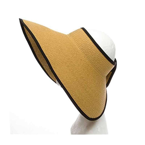 Large Roll Up Sun Visor with Contrast Trim