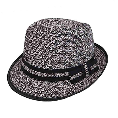 Junior Tweed Straw Fedora by Boardwalk