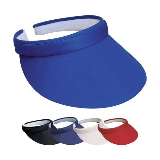 "Cotton Clip-On Sun Visor - DPC Outdoor Design - 3"" Peak - SetarTrading Hats"