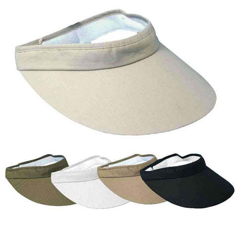 DPC Global Big Brim Cotton Sun Visor - Unisex